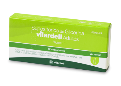 Supositoris de Glicerina Vilardell Adults