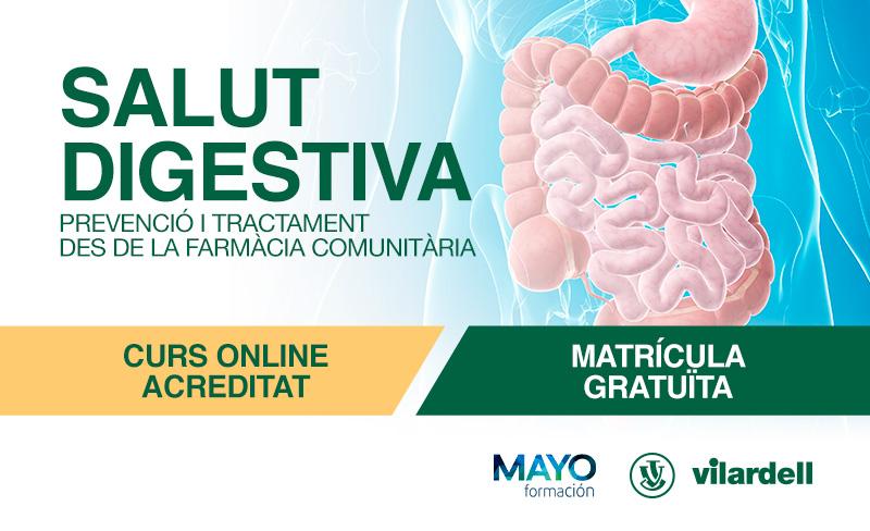 Ediciones Mayo organitza, amb el patrocini de Laboratoris Vilardell, un curs online per abordar la salut digestiva des de la farmàcia
